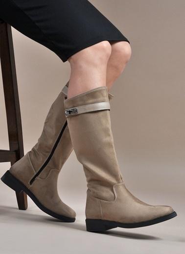 Vizon Ayakkabı Çizme Vizon